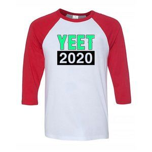 Youth Kids YEET 2020 3/4 Sleeve Baseball Tee